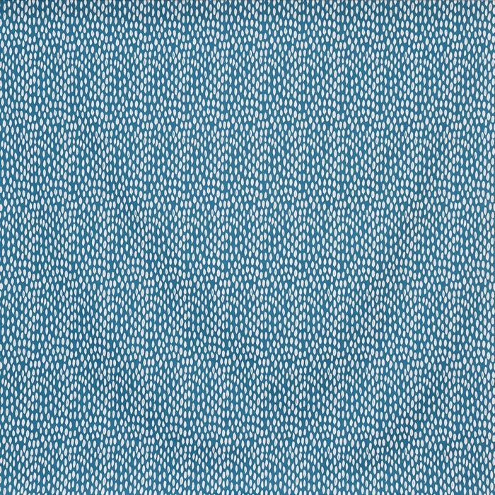 Pour commande sur mesure toile enduite motifs gouttes bleues