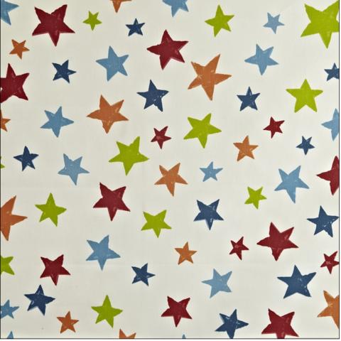 Pour commande sur mesure toile enduite motifs étoiles multicolores